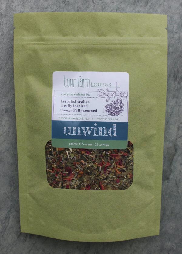 unwind tea organic loose leaf herbal tea for natural nervous system support