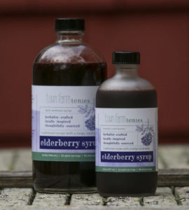 Town Farm Tonics organic Elderberry tonic for immune support and strength