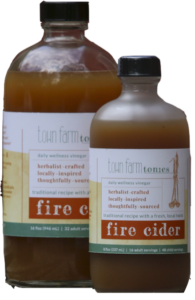 Fire Cider herbal tonic for spring detoxification and allergy support