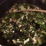 braised swiss chard made with fire cider tonic